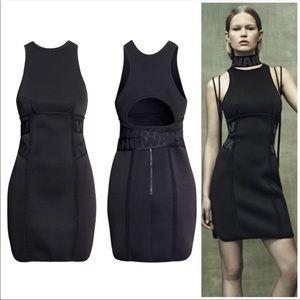 H&M x Alexander Wang Neoprene Black Mini Dress